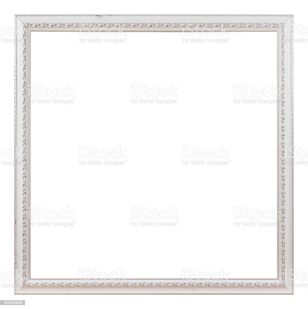 Antique white frame stock photo