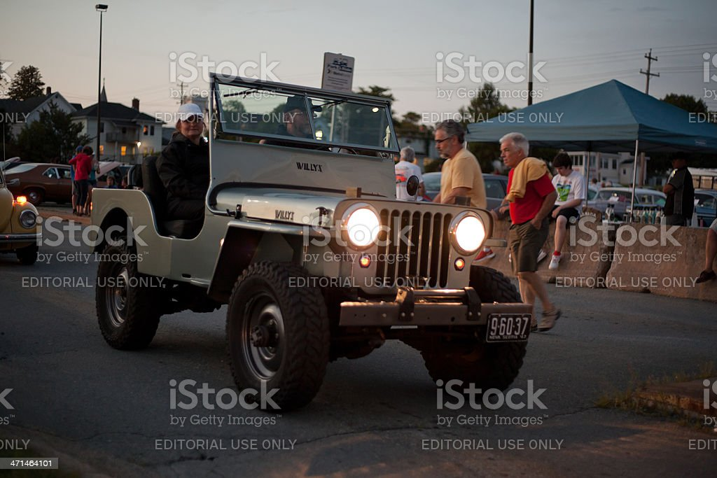 Antique Willys Jeep stock photo
