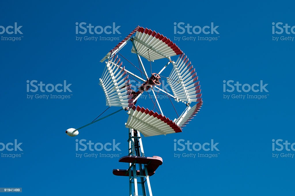 Antique Windmill 2 stock photo
