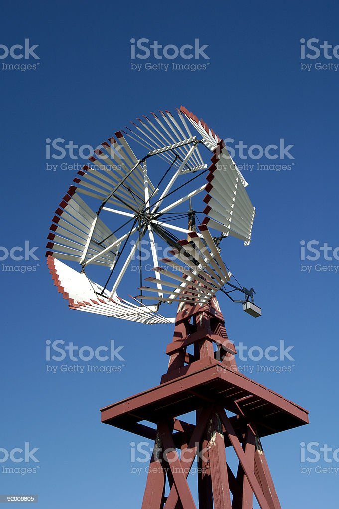 Antique Windmill 3 stock photo