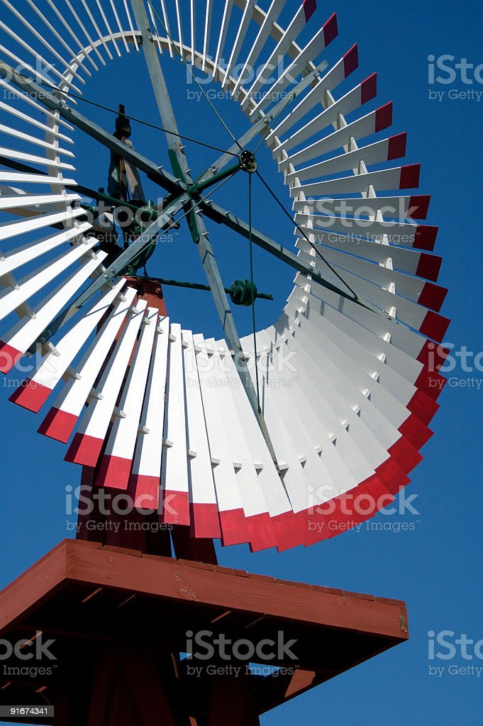 Antique Windmill 9 stock photo