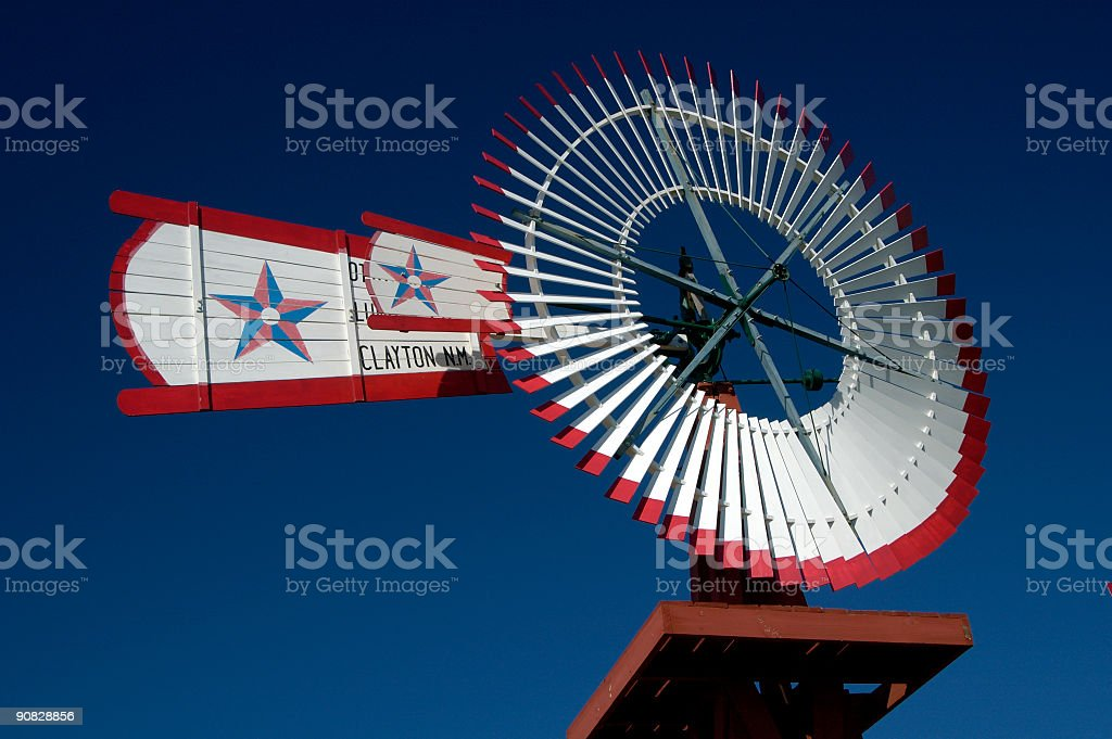Antique Windmill stock photo
