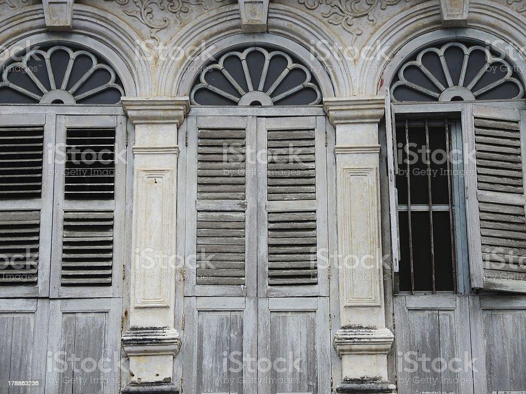 antique windows stock photo