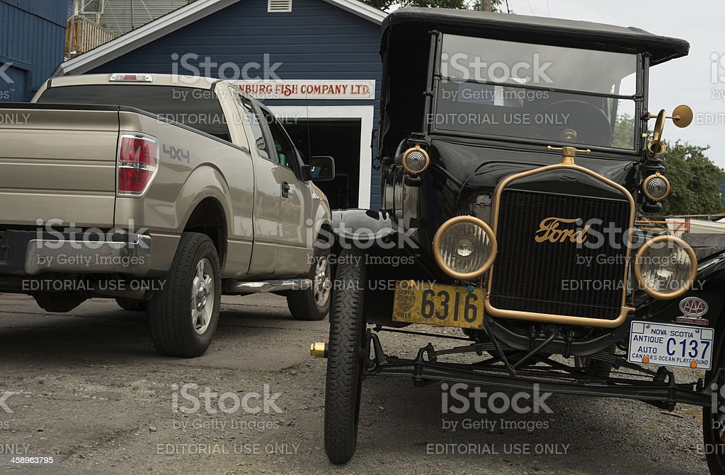 Antique with Modern stock photo