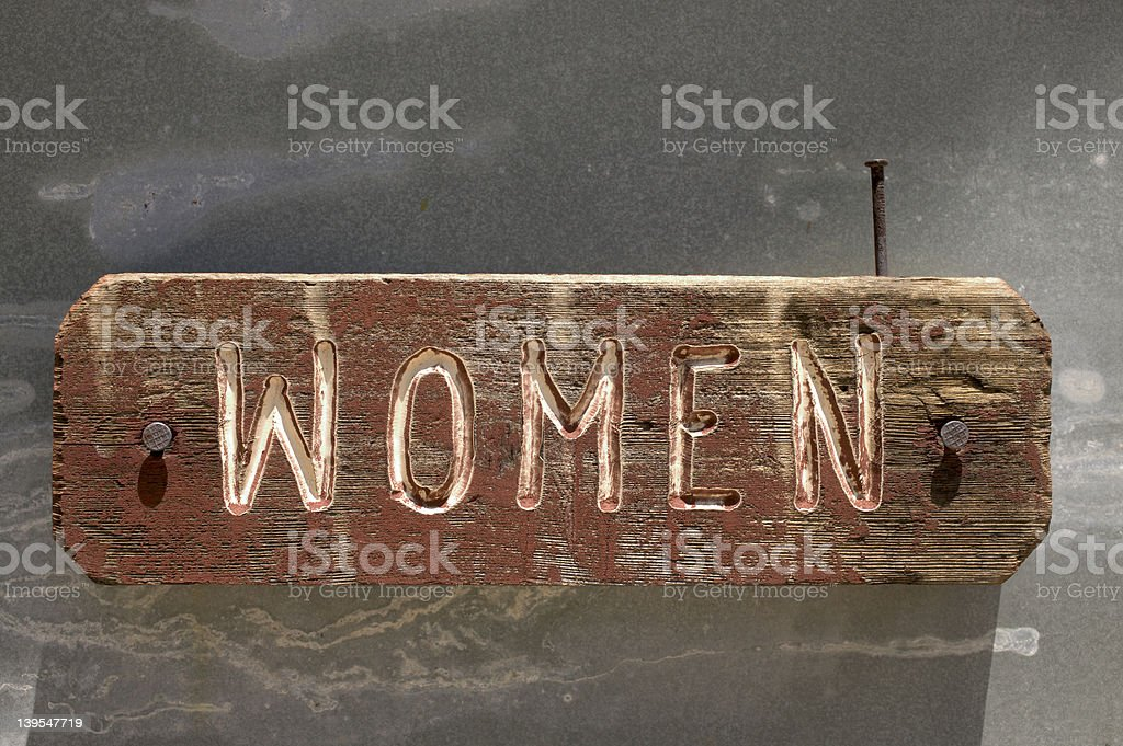Antique women wood sign royalty-free stock photo