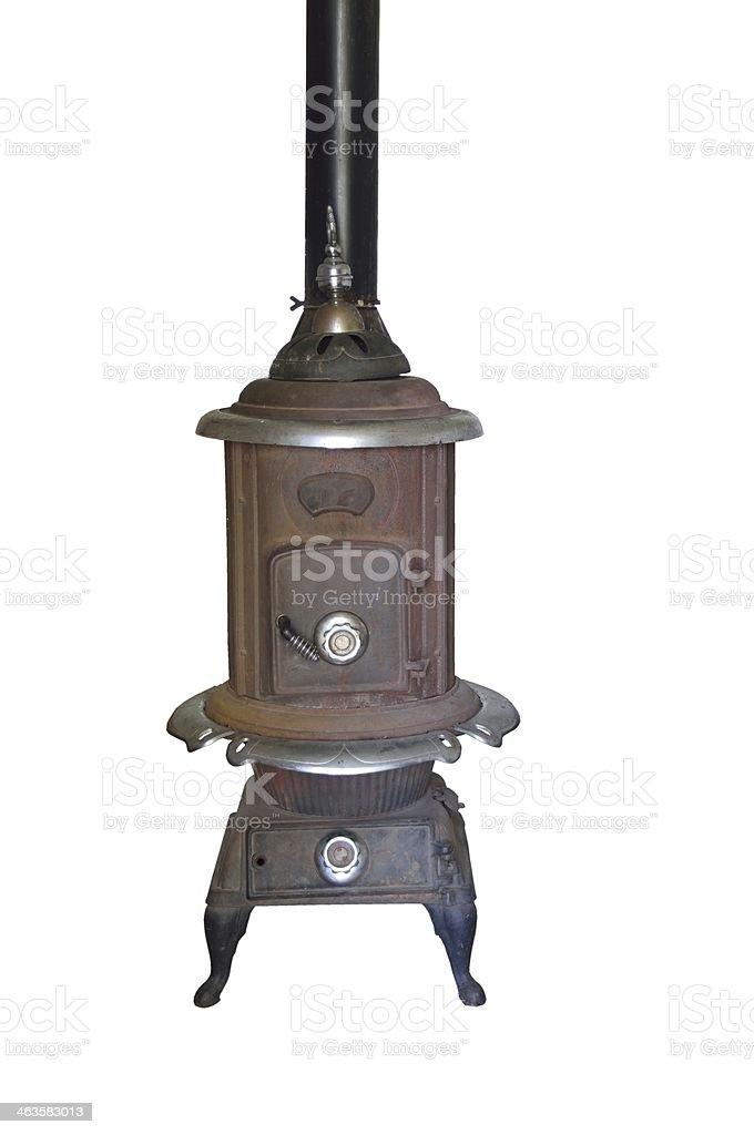 Antique Wood Burning Stove stock photo