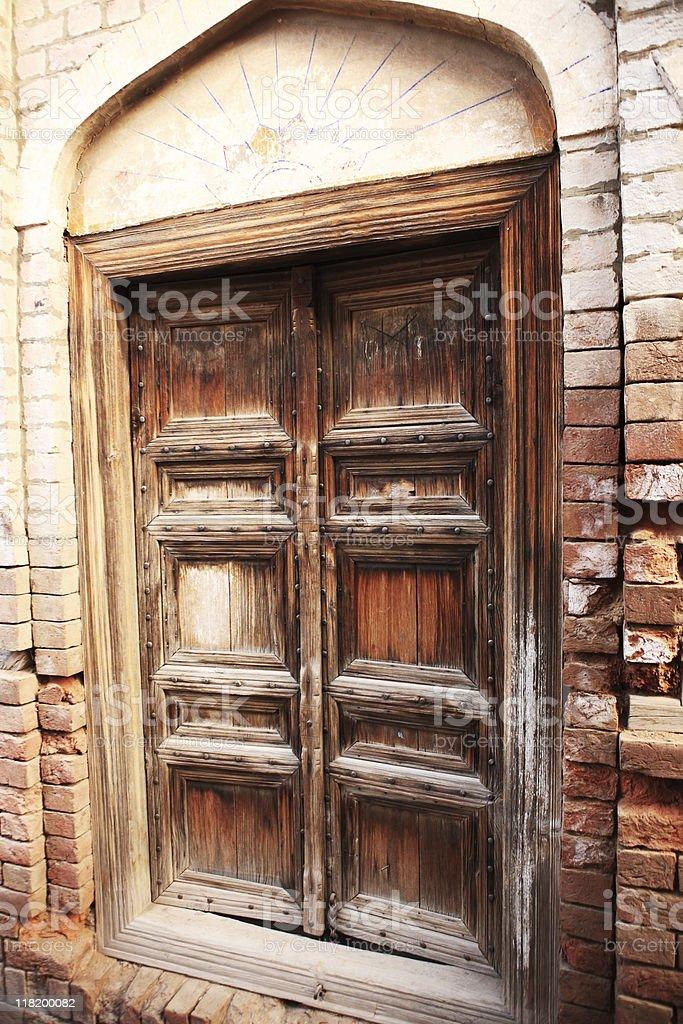 Antique Wood Door royalty-free stock photo