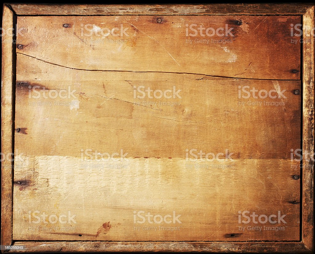 Antique Wood Sign stock photo