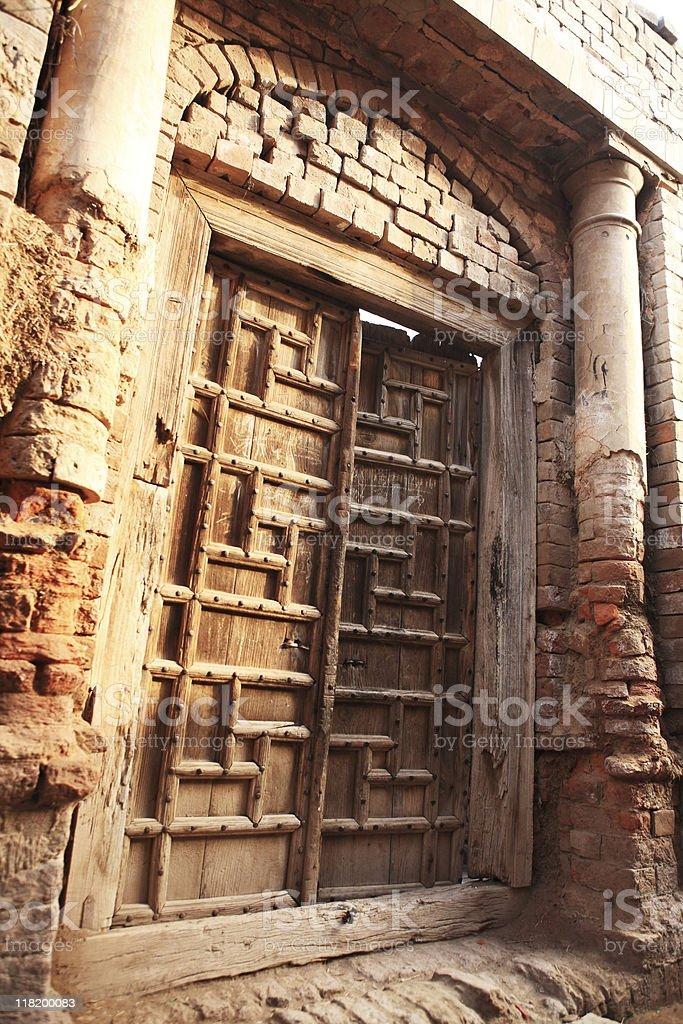 Antique Wooden Door royalty-free stock photo