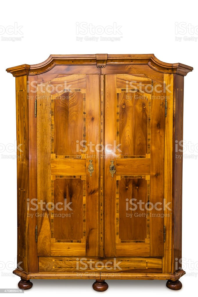 Antique wooden dresser from Europe stock photo