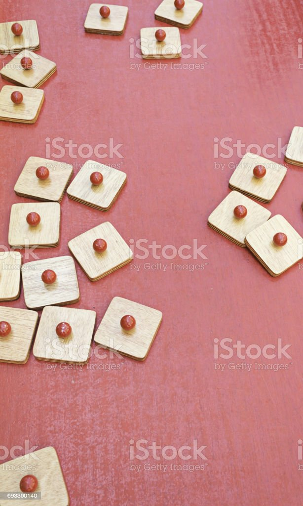 Antique Wooden Game stock photo
