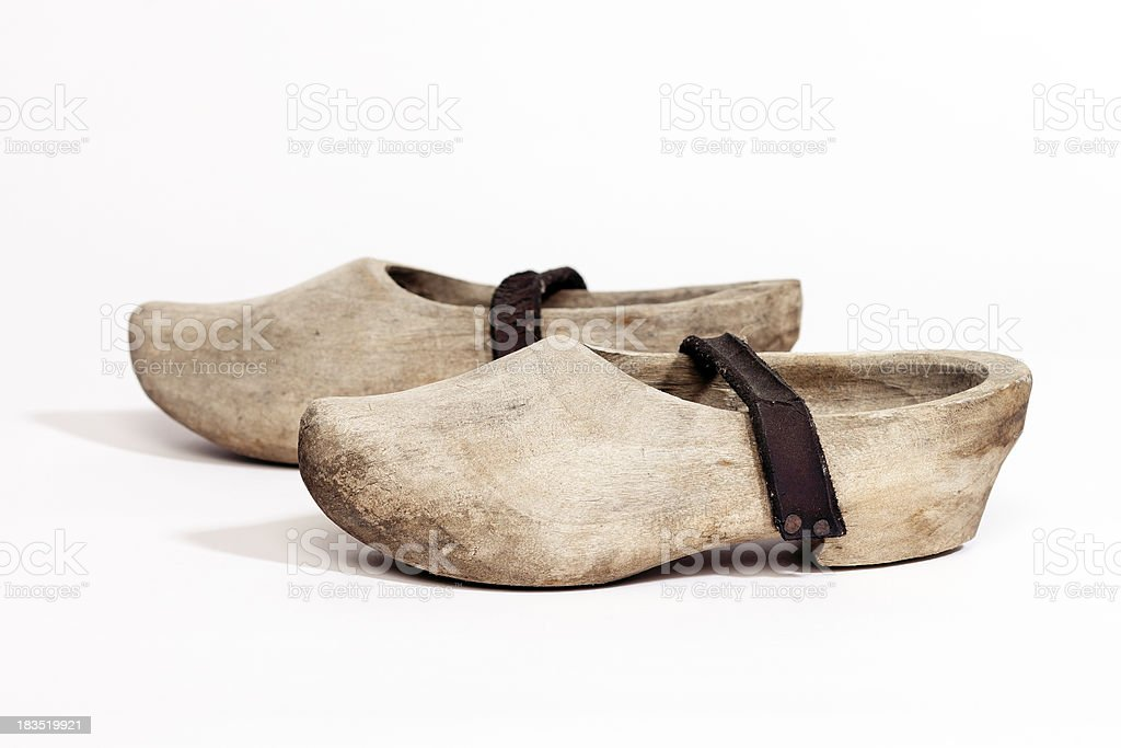 antique wooden shoe, Holland Style stock photo