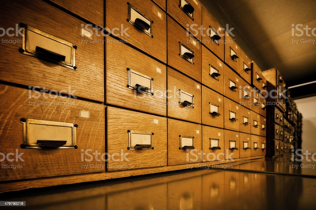 Antique wooden storage boxes stock photo