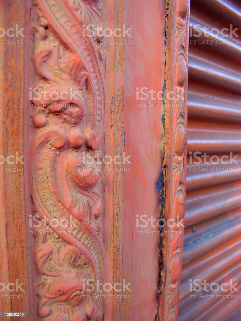 Antique Woodwork royalty-free stock photo