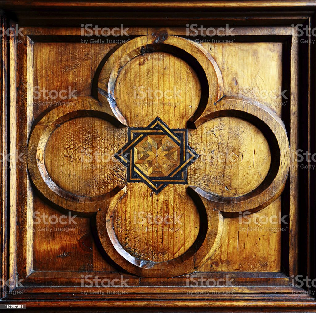 Antique boiserie royalty-free stock photo