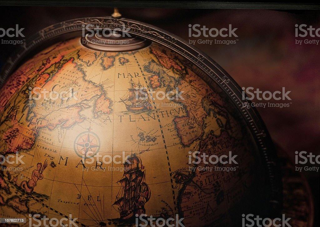 Antique World Globe Map stock photo