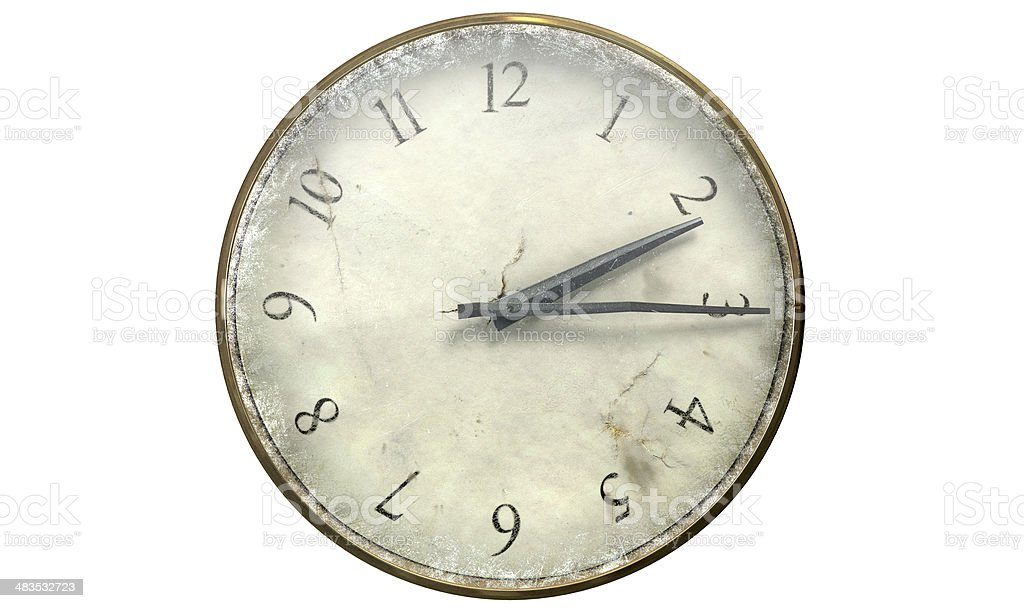 Antique Worn Pocket Watch royalty-free stock photo