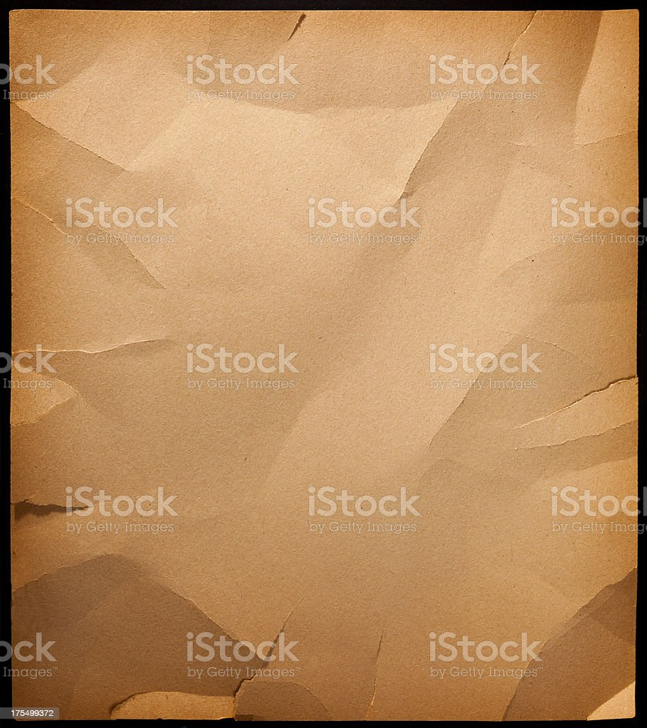 Antique Wrinkled Paper Background royalty-free stock photo