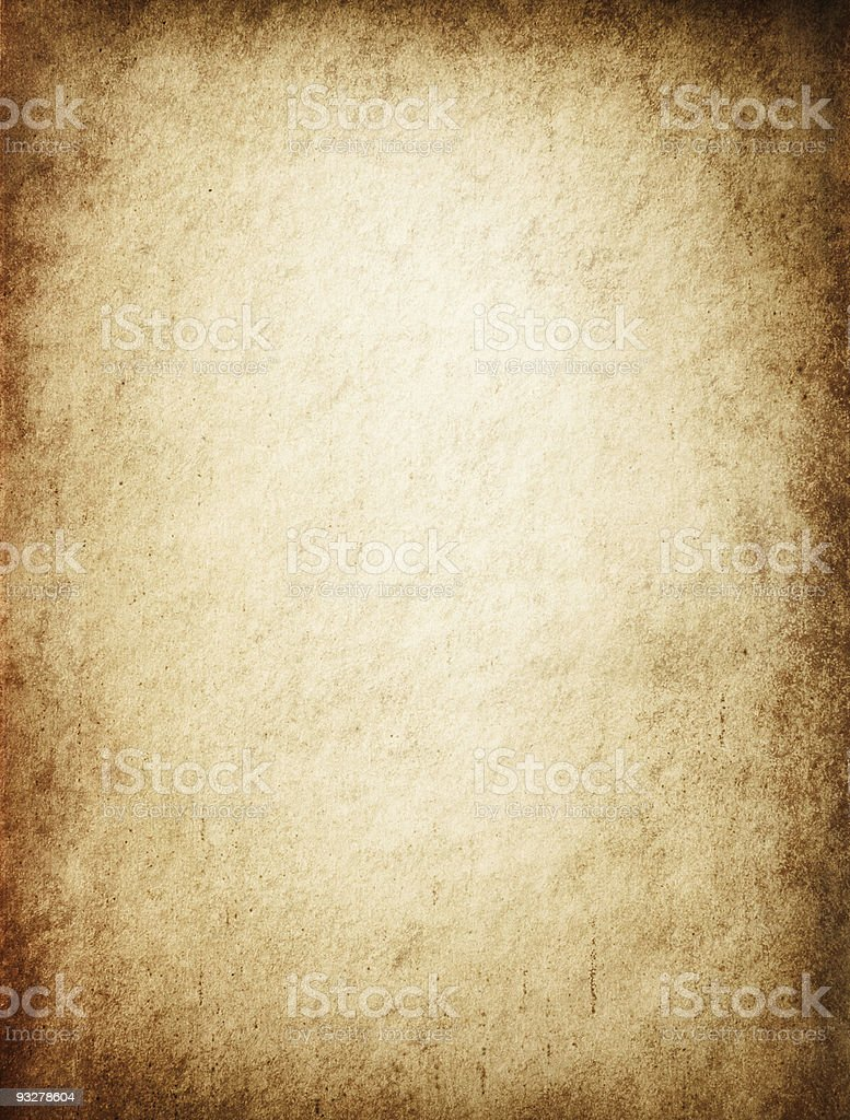 Antique Yellowish Parchment stock photo