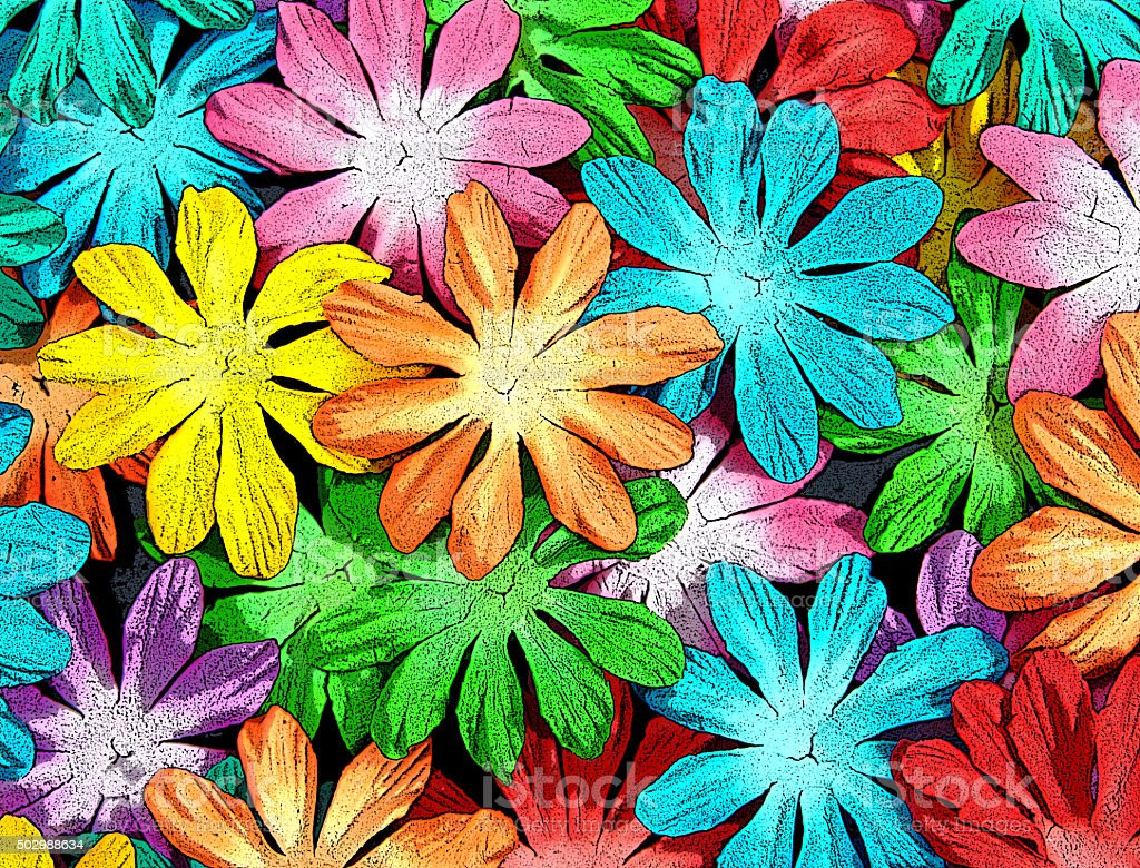 Antiqued Flower Heads stock photo