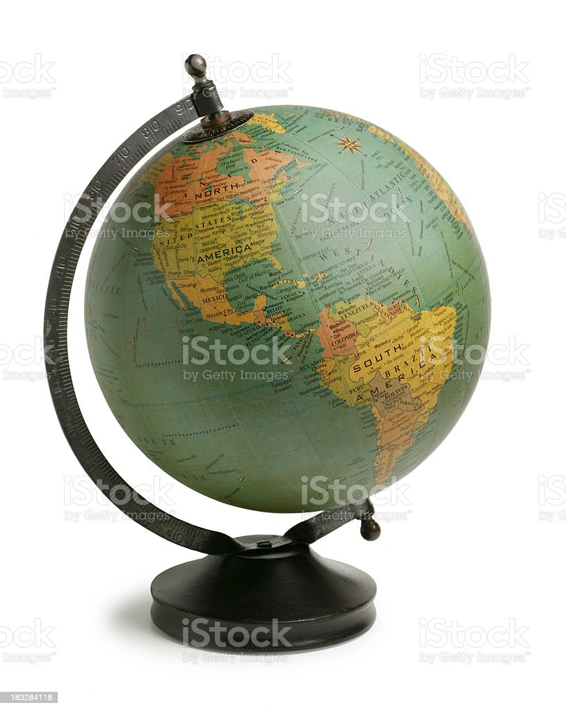 Antiqued Globe stock photo