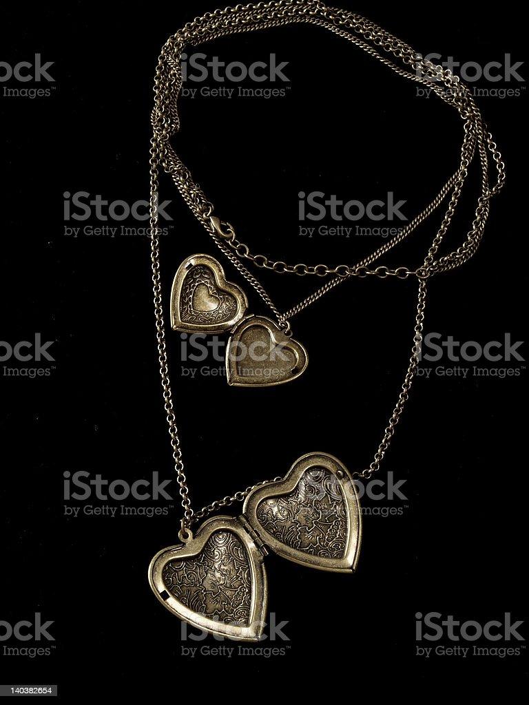 Antiqued locket stock photo