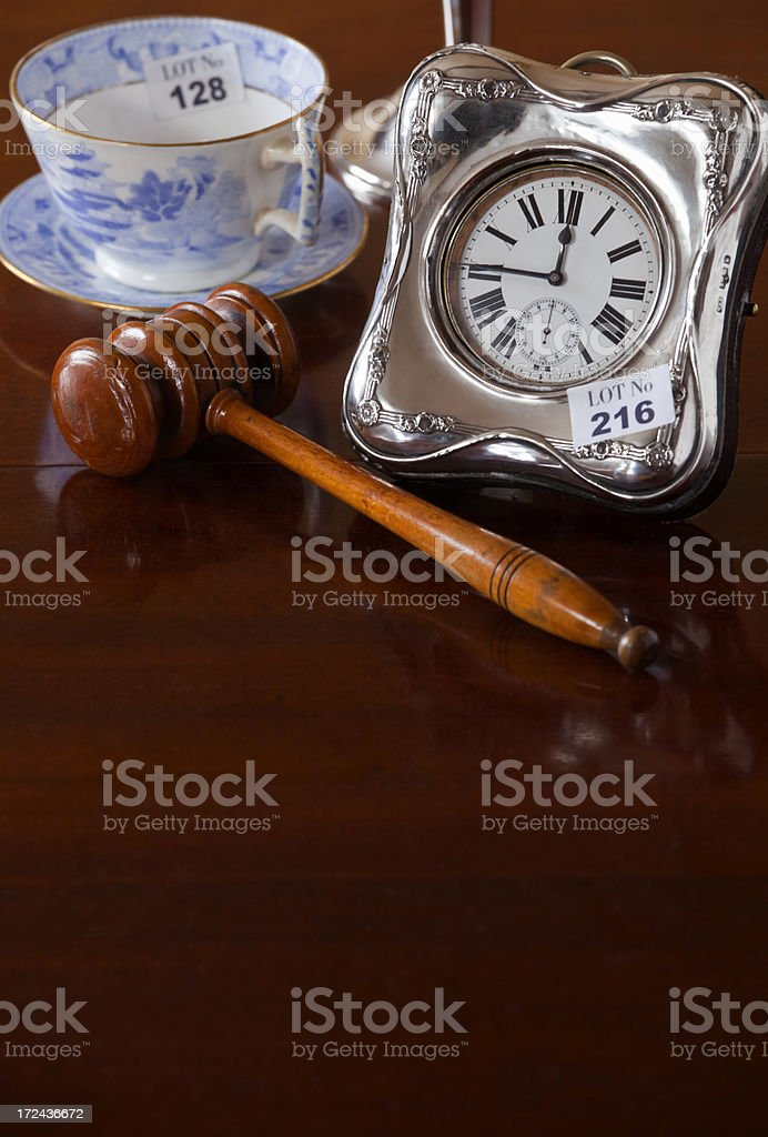 Antiques Auction royalty-free stock photo