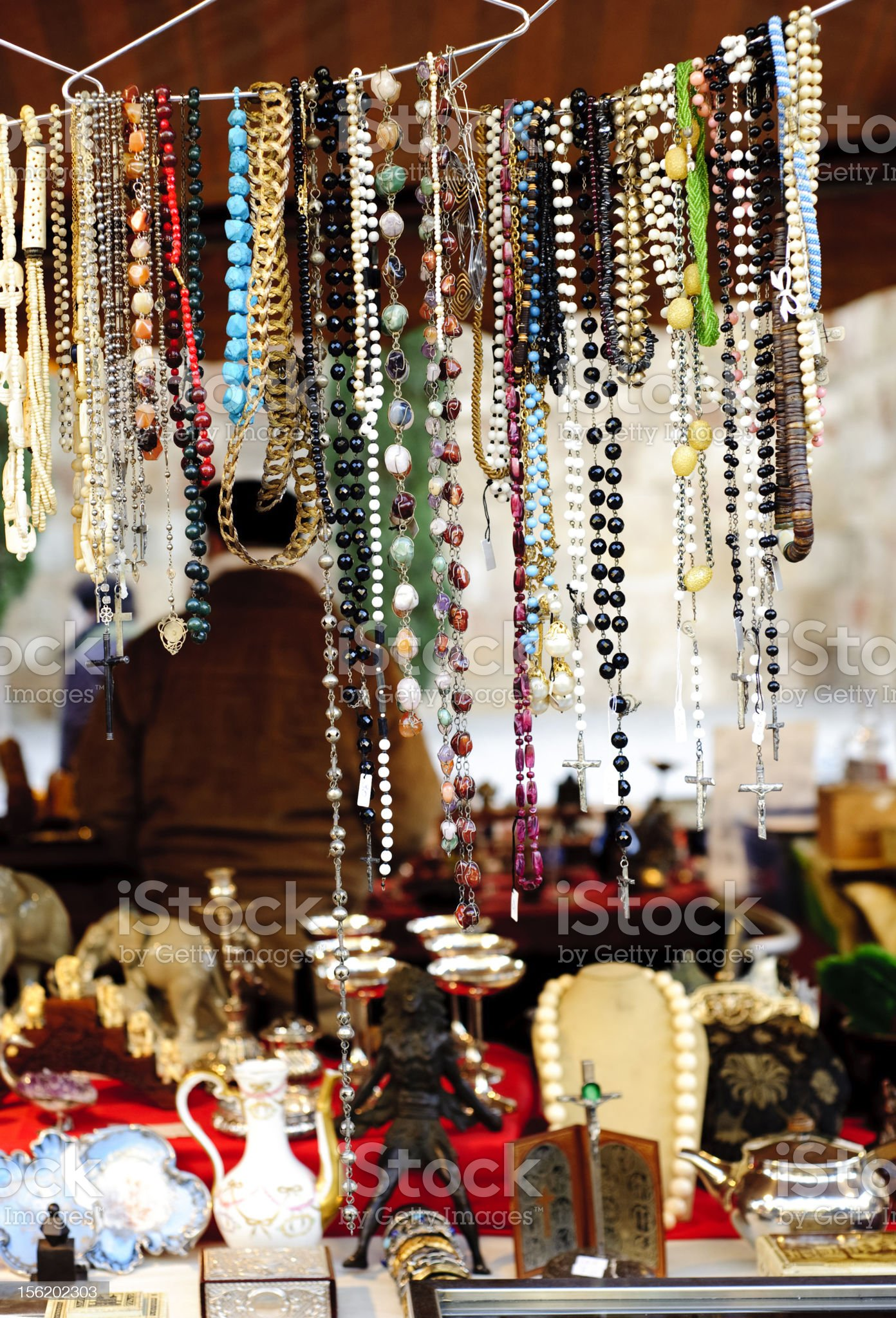 Antiques market, Barcelona royalty-free stock photo