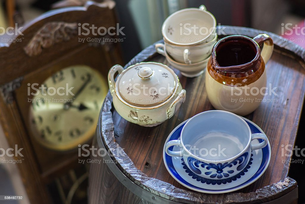 Antiques_Cups stock photo