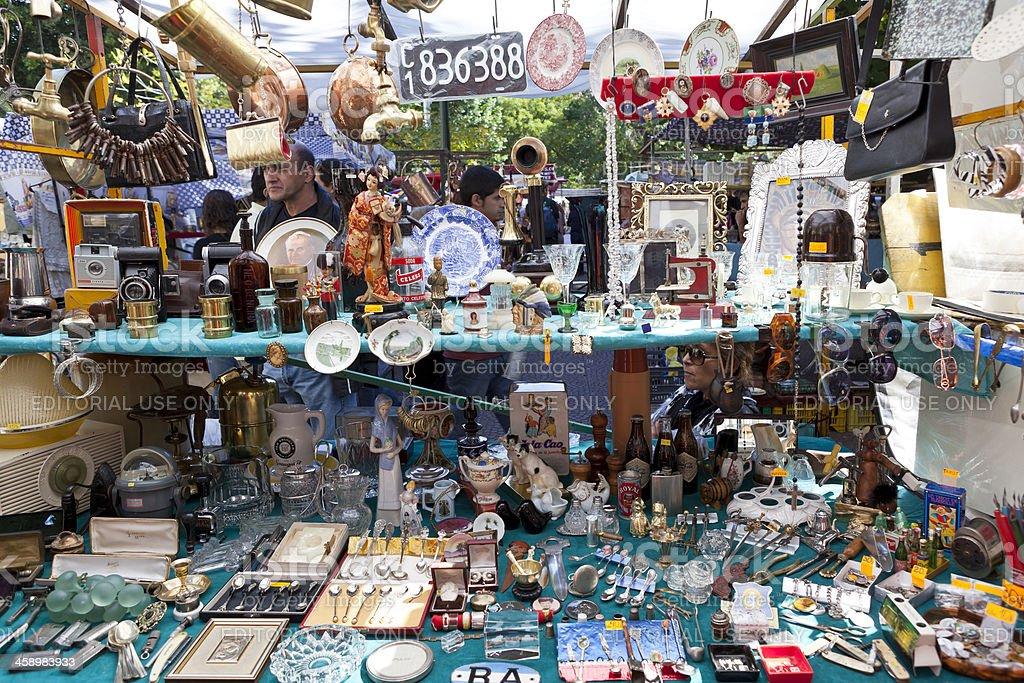 Antiquities Argentina Buenos Aires flea market of San Telmo royalty-free stock photo