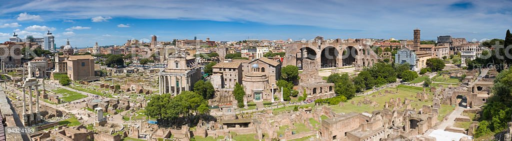 Antiquities of ancient Rome stock photo