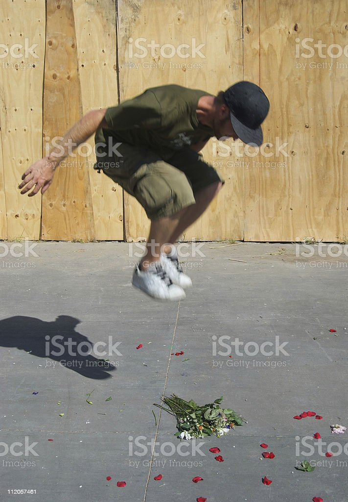 Anti-Romance: The Crushed Flowers of Death stock photo
