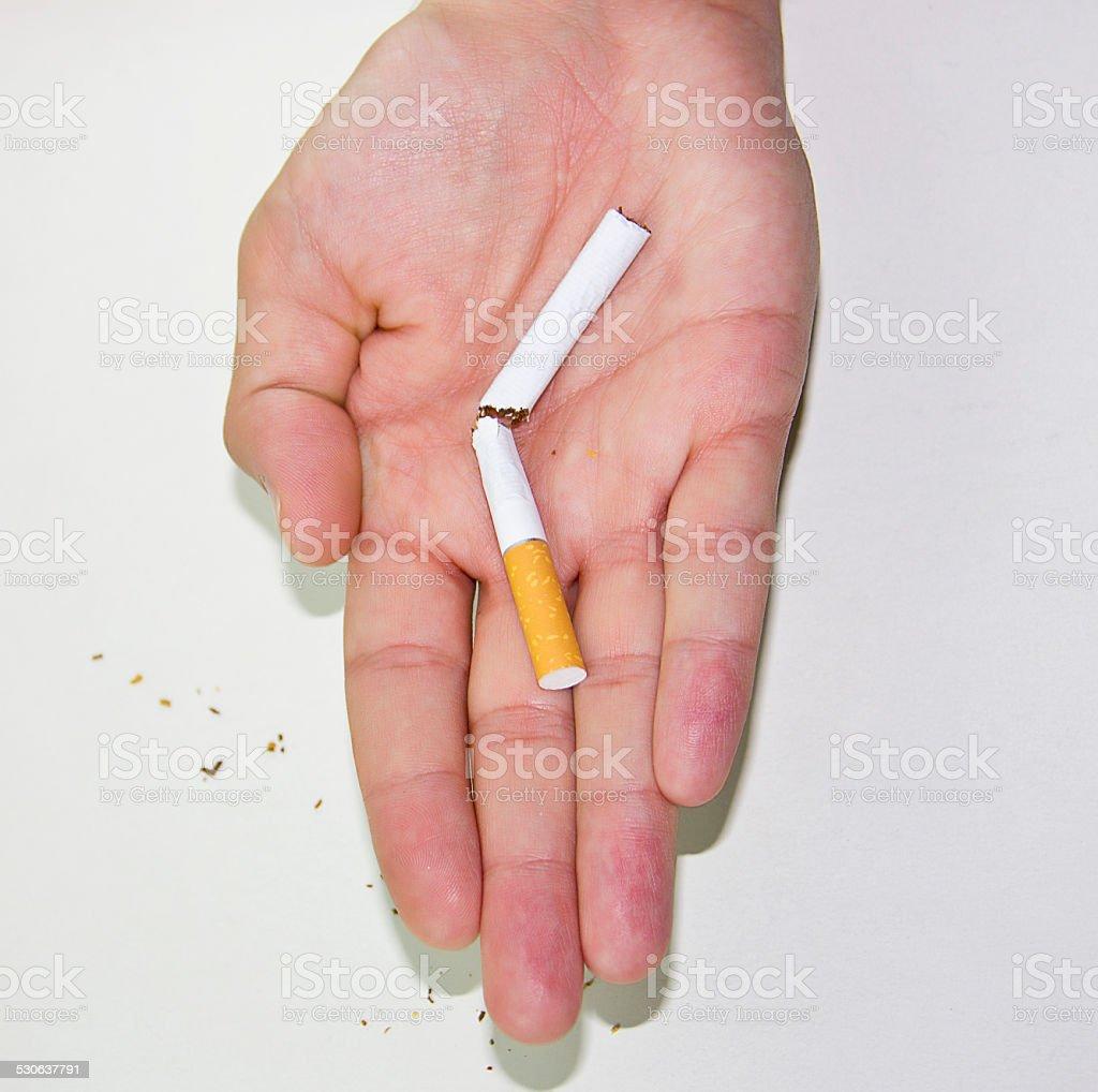 Anti-smoking image, isolated stock photo