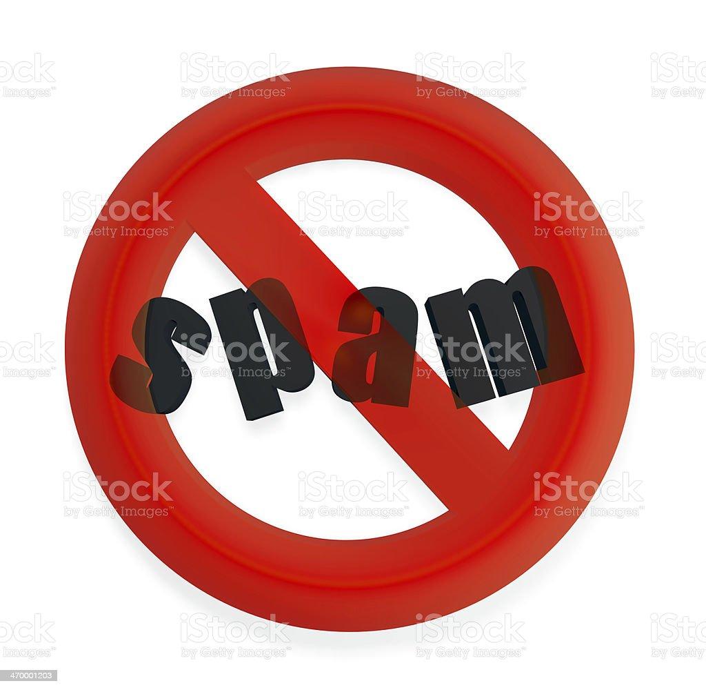 3D anti-spam alert sign royalty-free stock photo