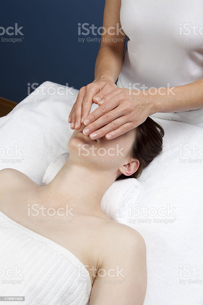 anti-stress relaxing therapy royalty-free stock photo