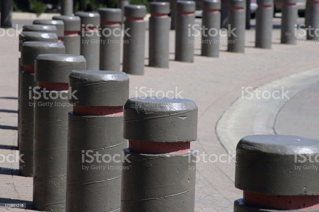 Anti-vehicle Barrier Posts royalty-free stock photo