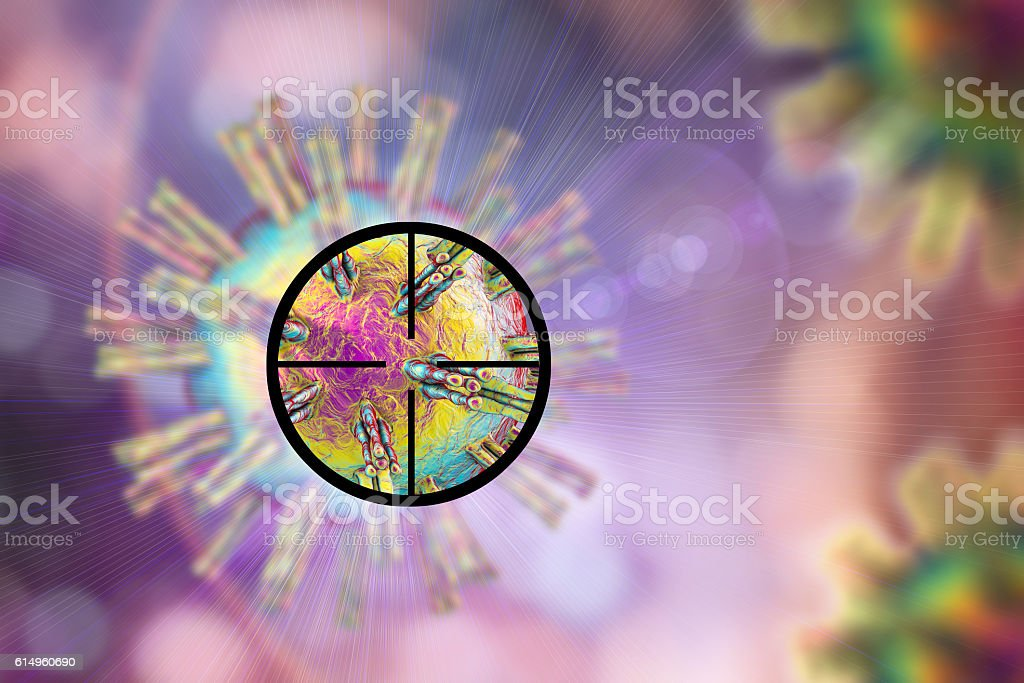 Antiviral treatment concept stock photo
