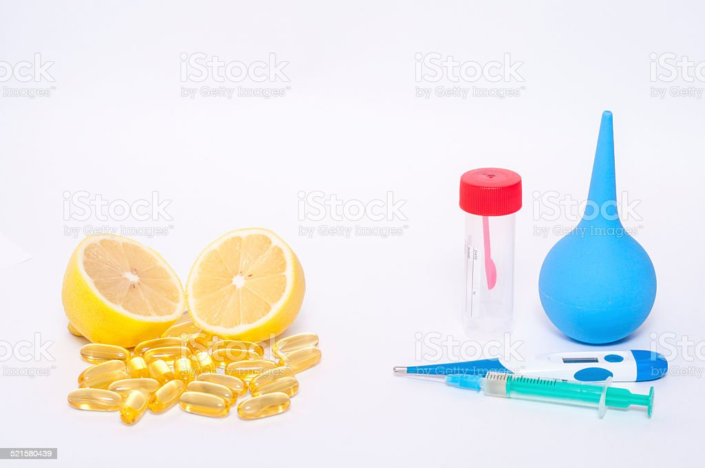 Anti-virus remedies and medicaments isolated stock photo