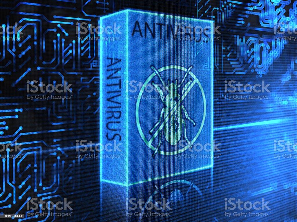 Antivirus Software (Blue) royalty-free stock photo