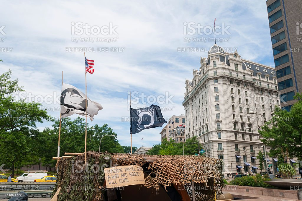 Anti-war demonstration in Washington DC stock photo