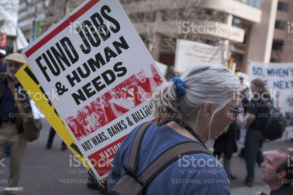 Anti-War Protest royalty-free stock photo