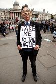 Anti-War protester as Tony Blair