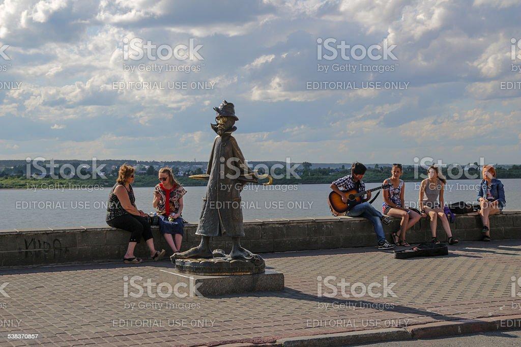 Anton Chekhov and People stock photo