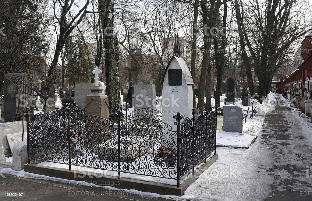 Anton Chekhov's grave stock photo