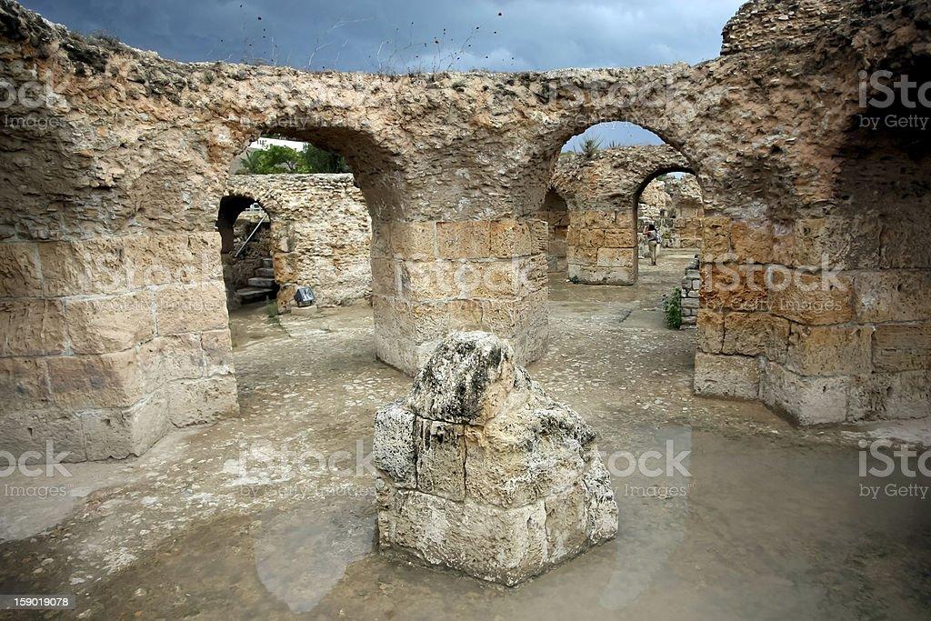 Antonine Baths corridors royalty-free stock photo