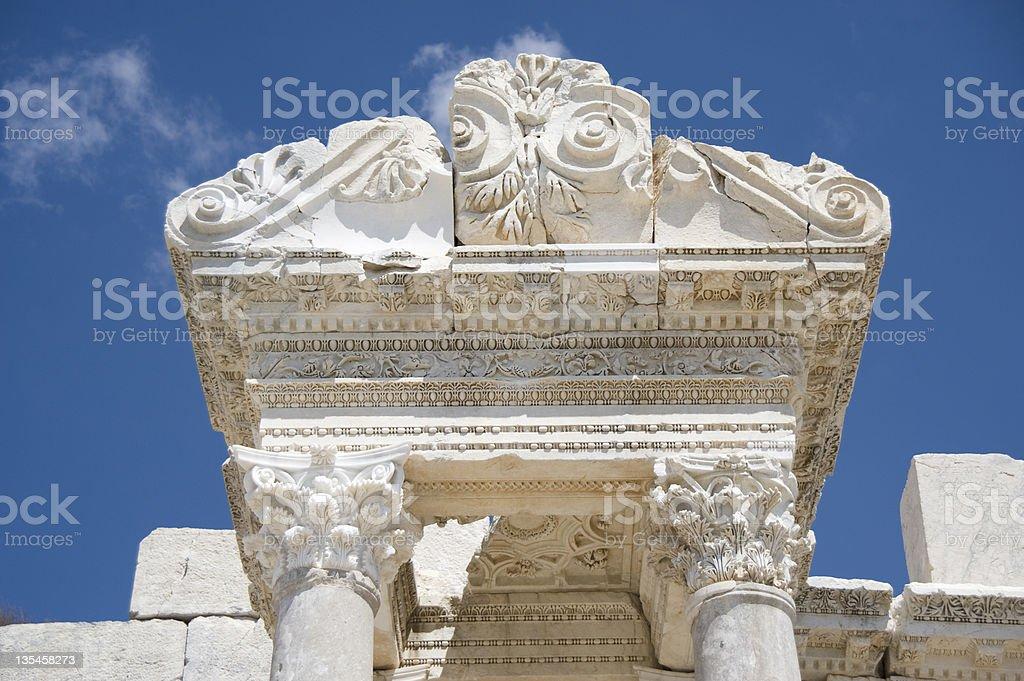 Antonine Nymphaeum at Sagalassos Archaeological Site, Turkey stock photo