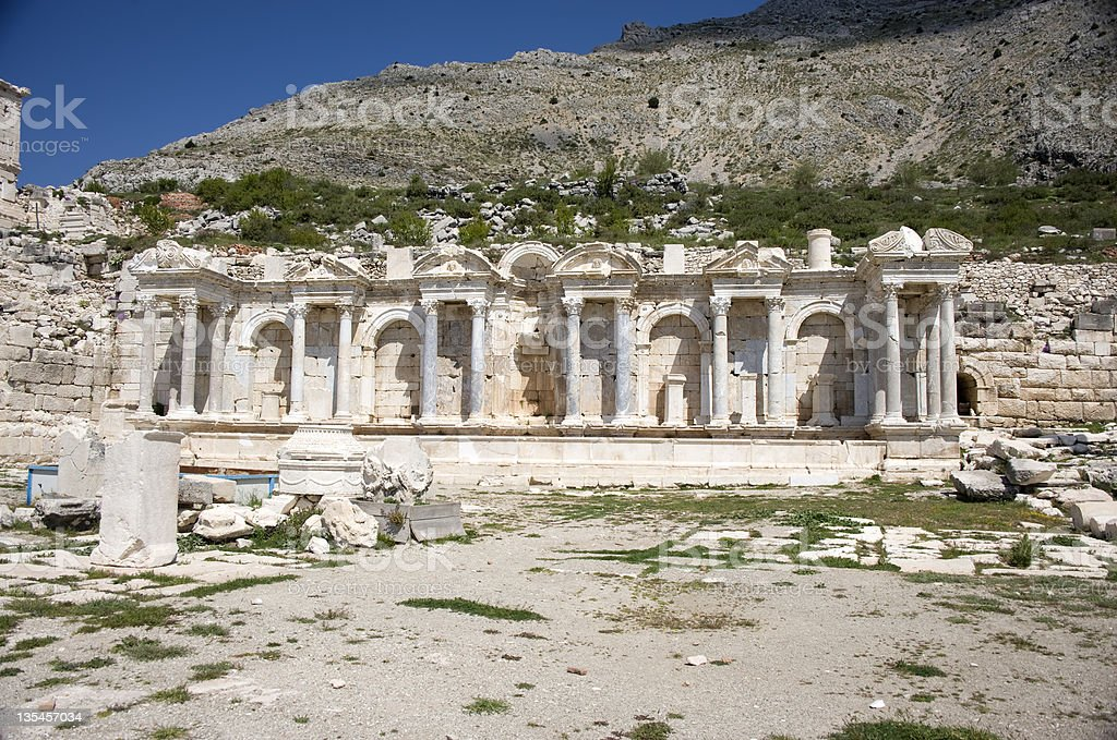 Antonine Nymphaeum at Sagalassos, Turkey stock photo