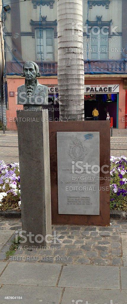Antonio Gutierez Statue stock photo
