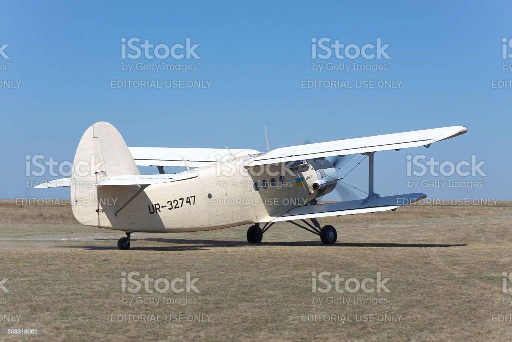 Antonov An-2 plane stock photo
