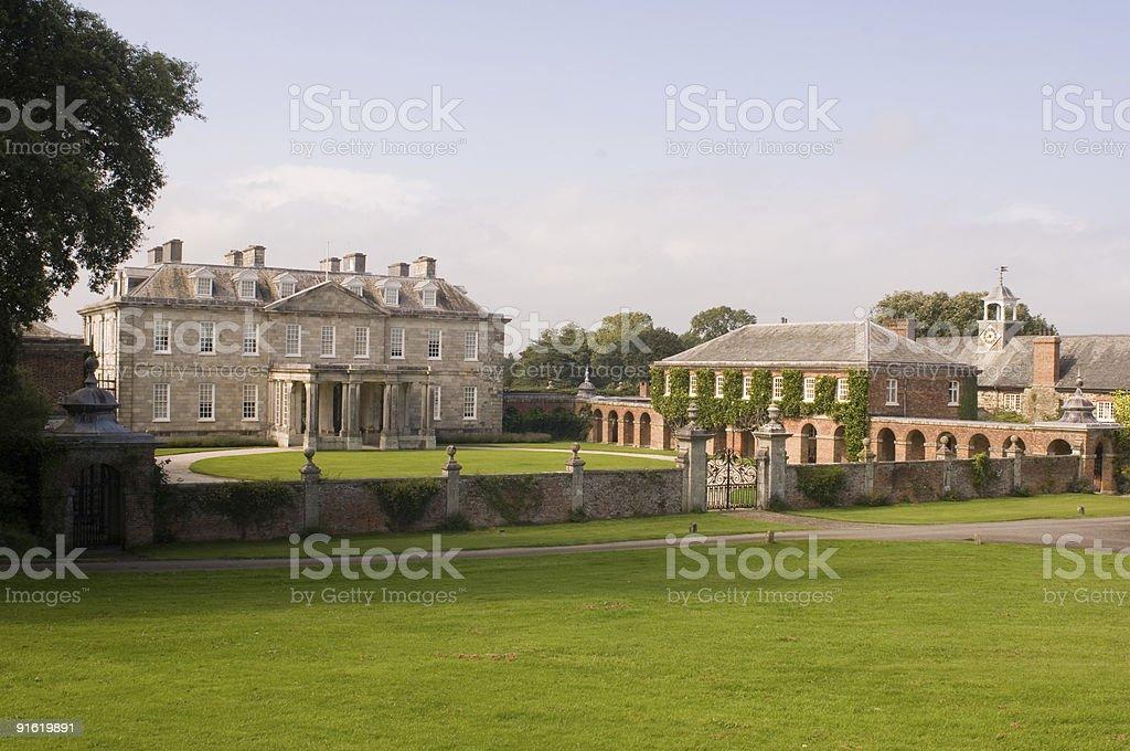 Antony House, Cornwall stock photo